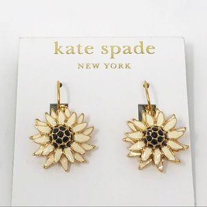 "Kate Spade ""Black Eyed Susan"" Earrings"